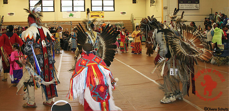 Intertribal Dance at San Francisco State University Powwow