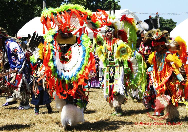 powwow dancers