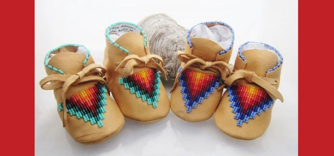 Adorable Native American Beaded Baby Moccasins
