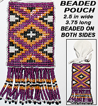 Native American Beaded Pouch