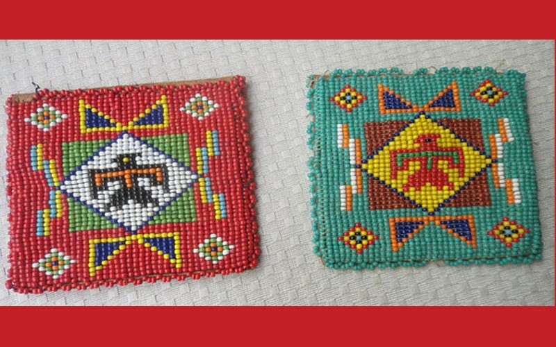 Vintage Native American Thunderbird  Beaded Coin Purses-Etsy Treasure