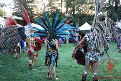 Aztec Dancers Perform At Powwows