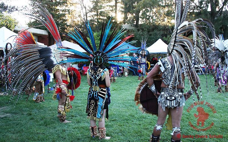 Aztec Dancers Perform At Powwows
