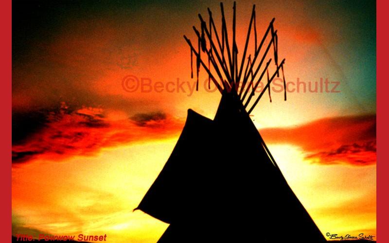 Powwow Sunset Photo