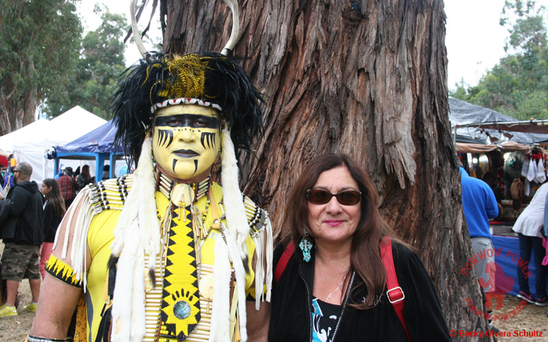 Percy Edwards with Becky Olvera Schultz, 2016 Stanford Powwow