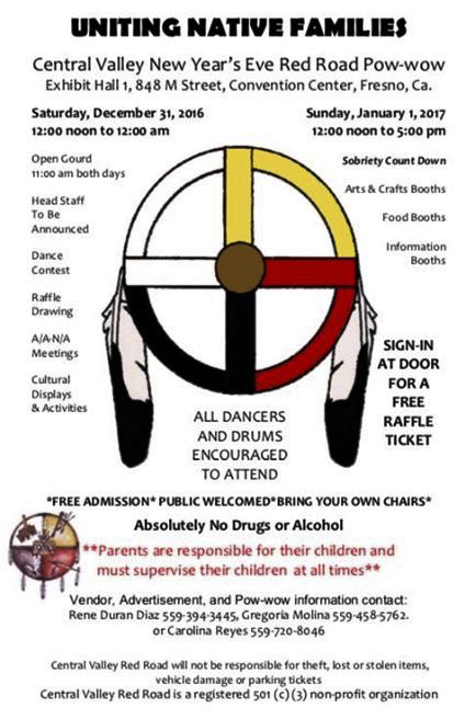 Central Valley New Year's Eve Red Road Powwow-Fresno