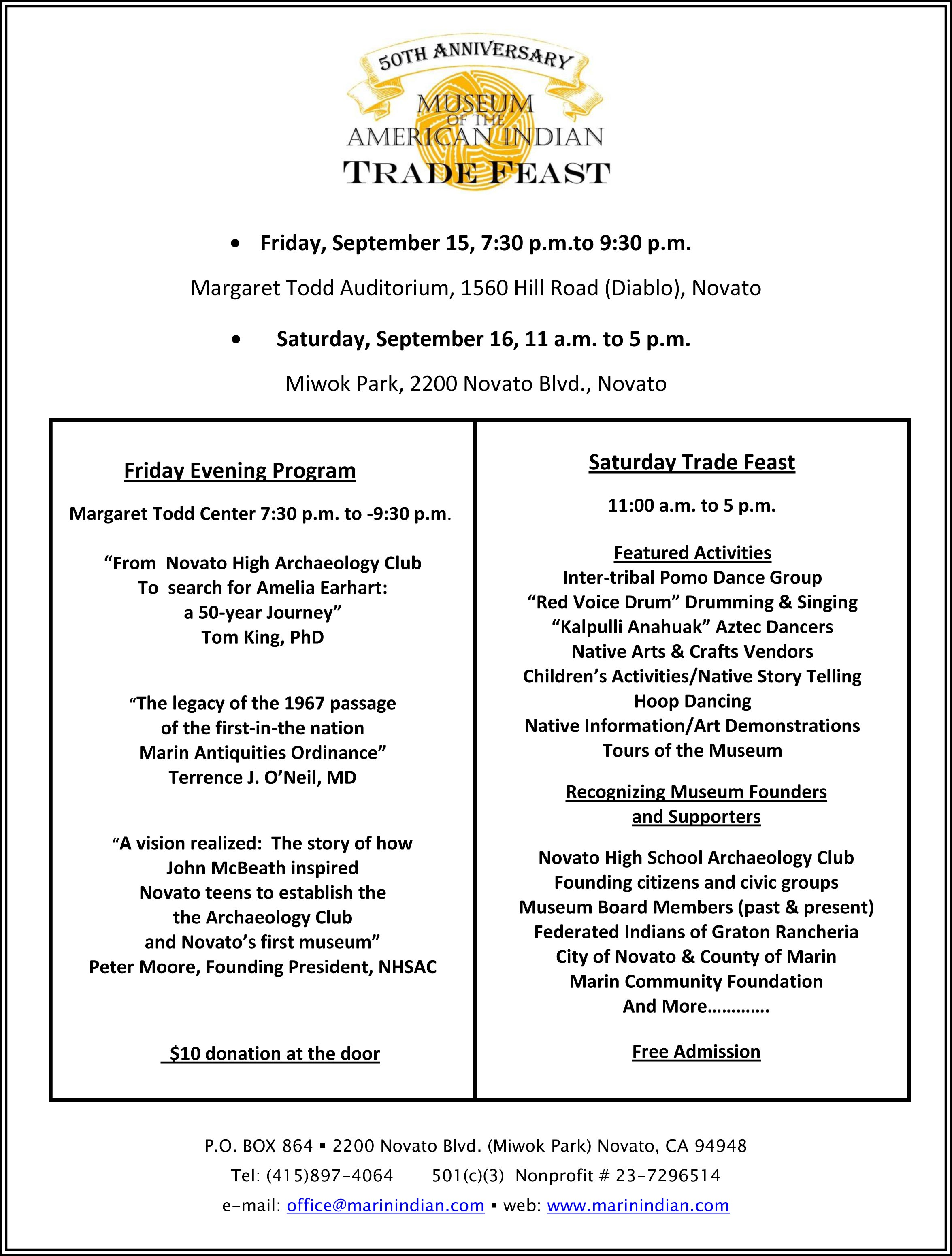 Trade Feast Flyer-Museum of the American Indian