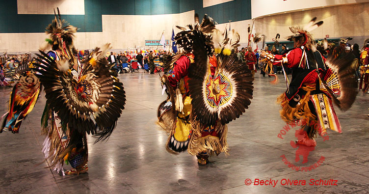 Traditional Male Powwow Dancers Fresno New Year's Eve Powwow