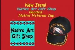 Beaded Native Veteran Cap at Native Art Gift Shop