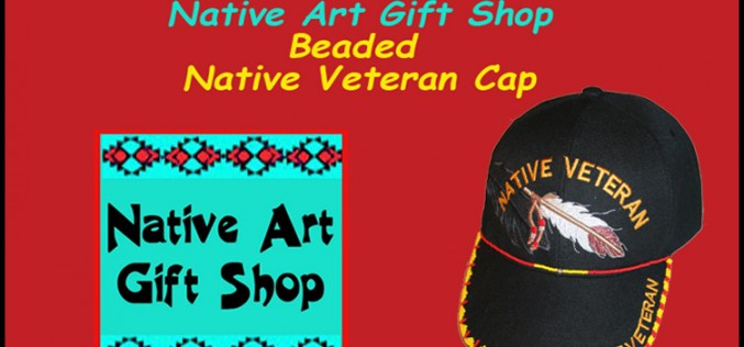 Beaded Native Veteran Cap at Native Art Gift Shop