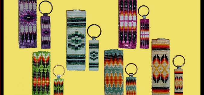 Native American Beaded Flat Keychains Gift Idea For Christmas