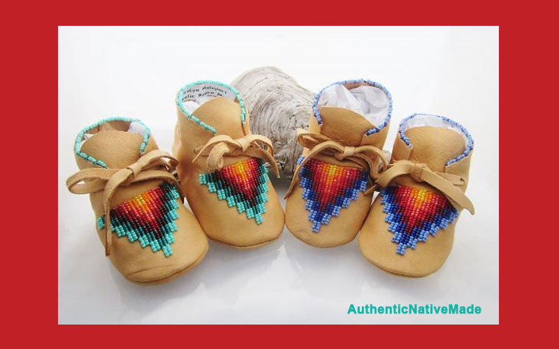 Adorable Native American Beaded Baby Moccasins Powwows