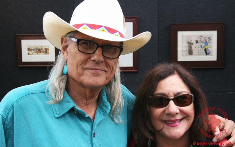 Michael Horse with Becky Olvera Schultz, 2016 Stanford Powwow