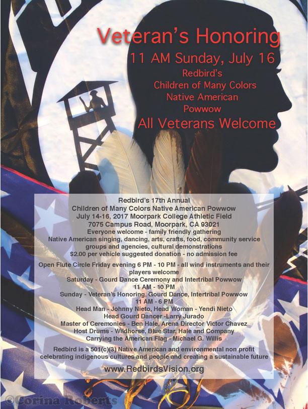 Redbird's Children of Many Colors Powwow Veteran's Honoring