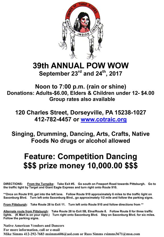 39th Annual COTRAIC Powwow