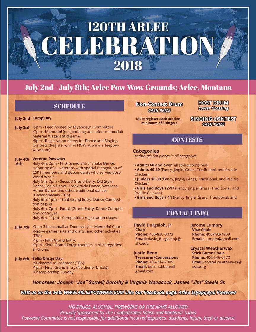 120th Annual Arlee Powwow Celebration 2018